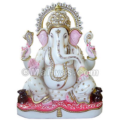 Lord Ganesh Statue In Marble Stone Manufacturers Of Lord
