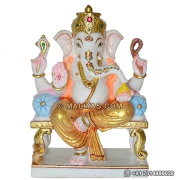 Beautiful Marble Ganesh Statue