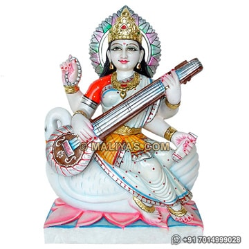 Beautiful Saraswati murti from White Marble