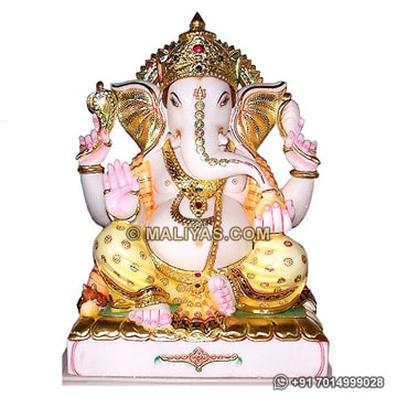 Ganesh Statue carved from jaipur