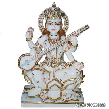 Maa Saraswati Colored Statue Manufacturer