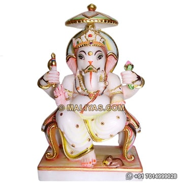 Marble Statue of Lord Ganesha for temple